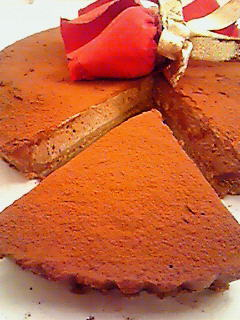 混ぜるだけ☆生チョコ風のレアチーズケーキ