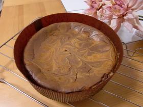 チョコ☆マーブルチーズケーキ♪