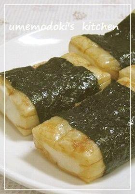 砂糖醤油餅の磯辺巻き by umemod...