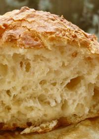 じっくり常温発酵でふわふわ♪捏ねないパン