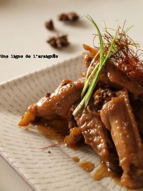 鶏スペアリブのすっぱ煮・中華風。
