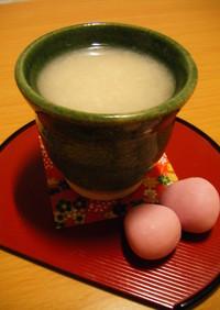体ぽかぽか甘酒ミルク☆