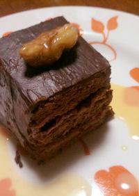 クルミとクランベリーの大人チョコケーキ