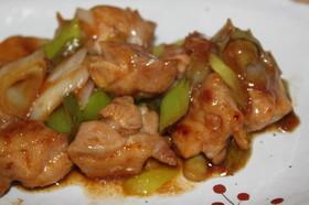 鶏肉と長葱の照り焼き