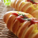ウインナーパン(ぐるぐる巻かない成形)