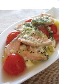鮭とじゃが芋のヨーグルト煮