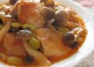 鶏肉としめじのトマトヨーグルト煮