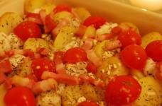 たら(白身魚)とポテトのオーブン焼き