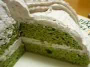 低糖質!抹茶ケーキの写真