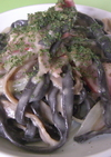 黒にんにくパスタ(2種類)のカルボナーラ