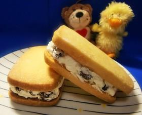 ラムレーズン♡バターサンドクッキー