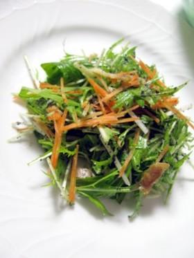 シャキシャキ☆水菜のぺペロンサラダ♪