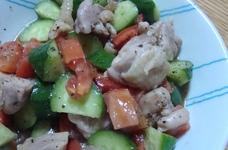 レンジでチン♪鶏モモ肉のサラダ