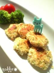 お弁当に☆ささみのパン粉焼き☆青のり風味の写真