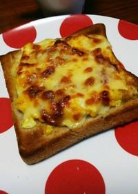 朝に簡単☆ふわたまチーズトースト