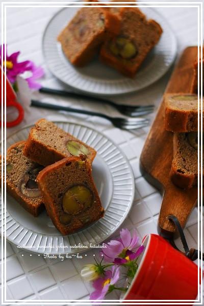 マロンパウンドケーキ