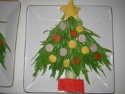 ☆水菜で☆クリスマスツリーサラダの写真