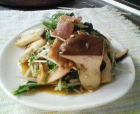 水菜とエリンギのホットサラダ~♪