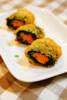 ✿鮭とほうれん草のチーズ風味フライ✿