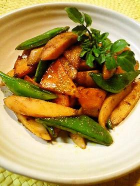 ✿簡単♬魚肉ソーセージのカレー炒め✿