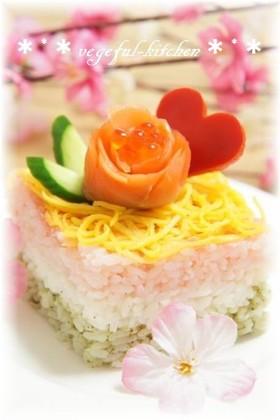 ひな祭り簡単ひし餅ちらし寿司❀カップ寿司