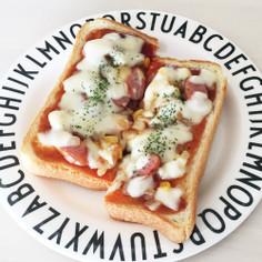 お好みソース&ケチャップのピザトースト