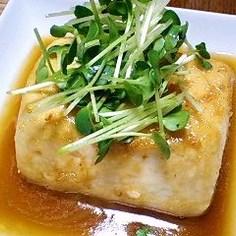 豆腐のムニエル にんにくバター醤油で♪