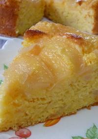 ノンオイル♡桃のヨーグルトケーキ