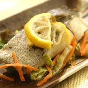 白身魚のゆず昆布レンジ蒸し