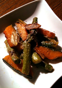 アンチョビとガーリックで炒める野菜