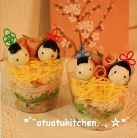 ひなまつりに❤カップちらし寿司