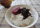 ご飯のお供♪「昆布の佃煮と梅干し」