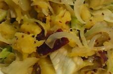 サツマイモ・レタスのマスタードサラダ