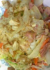 白菜消費!白菜とベーコンのおかかマヨ炒め