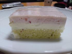 菱餅風3色レアチーズケーキ
