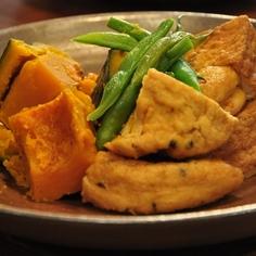かぼちゃとがんも(厚揚げ)の煮物