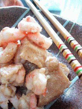 海老と筍のおかかマヨ炒め。