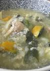 レタスとカボチャのお粥雑炊