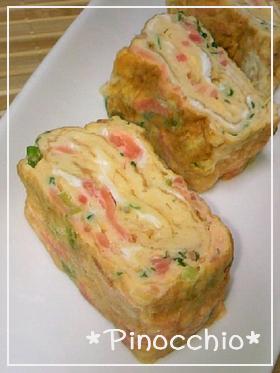 *お弁当* 紅生姜とねぎの❀卵焼き