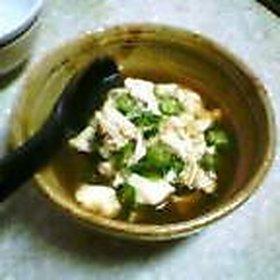 オクラと豆腐のあんかけ風