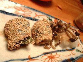 秋刀魚の梅しそ巻き