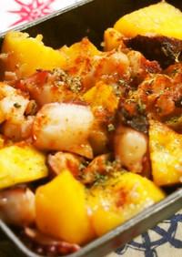 ♡タコとジャガイモのアンチョビ炒め♡