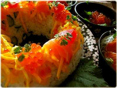 *海鮮ケーキ寿司*お祝いやパーティにも♪