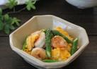 海老とアスパラガスと卵の塩炒め