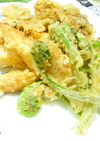 春菜の天麩羅✿焦がし醤油風味
