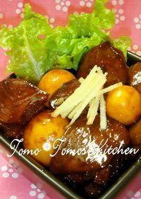 山梨の郷土料理 ♥甘辛鶏もつ煮♥