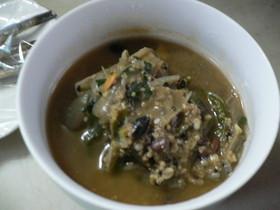 雑穀のチゲ風スープ