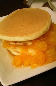 卵なし★牛乳なし★リンゴホットケーキ♪の写真