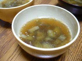 生姜でポカポカ★ナスと白菜の中華風スープ