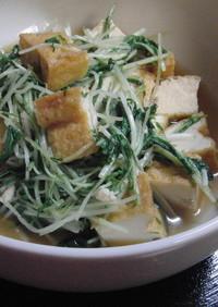 ♡5分で!水菜と厚揚げのササッと炒め♡